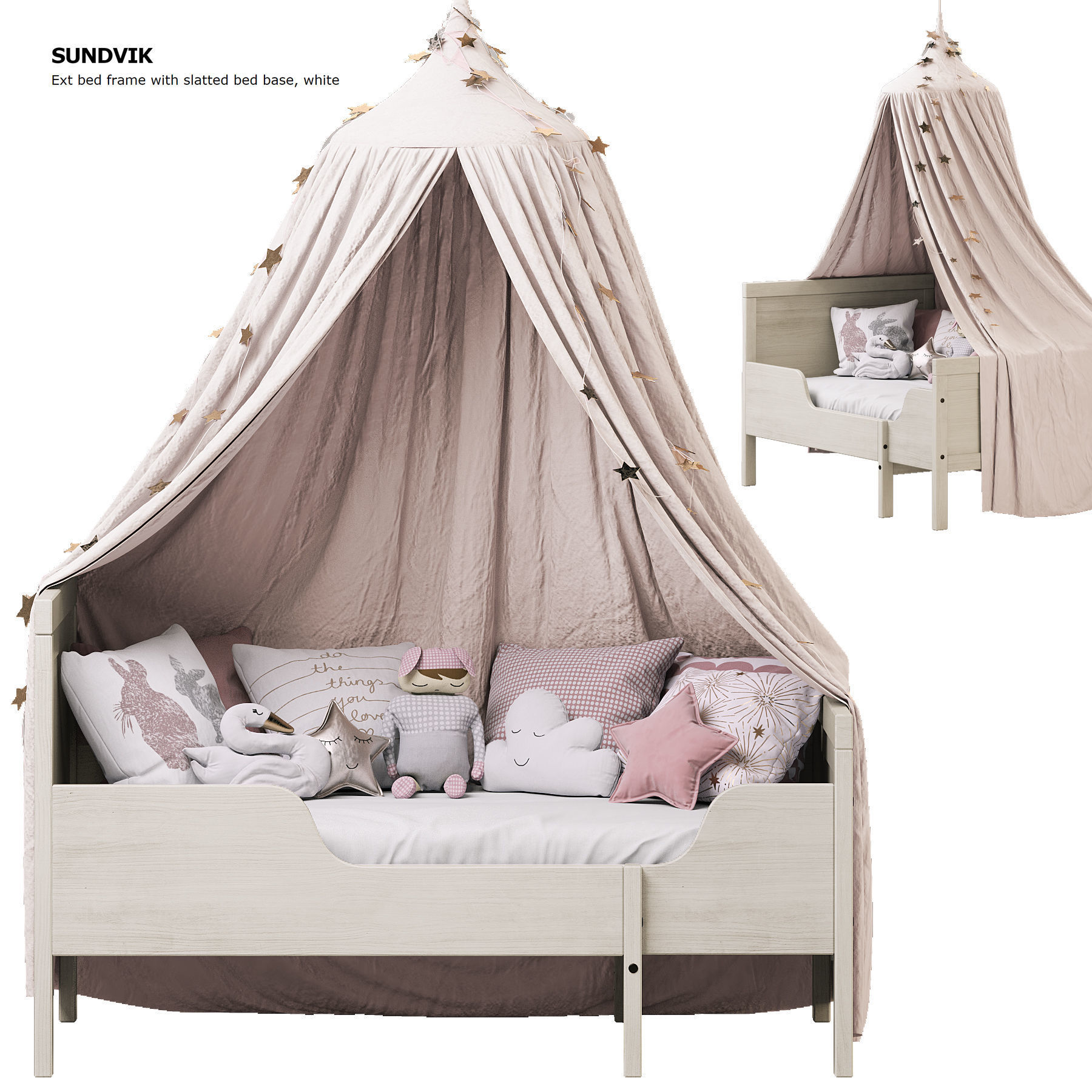 - Children Bed SUNDVIK IKEA With Canopy 3D Model CGTrader