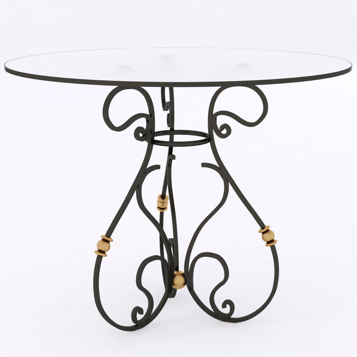 Wrought iron table 3d model max obj mtl 3ds fbx 1