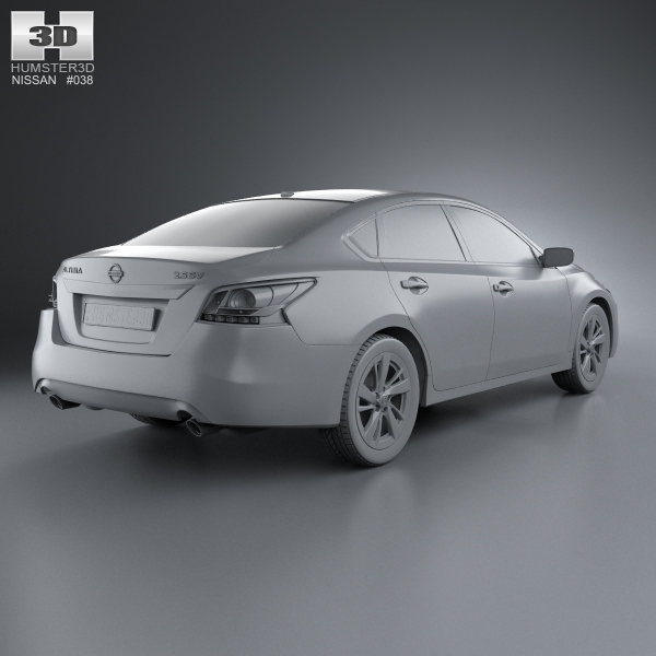 3d model nissan altima 2013 cgtrader