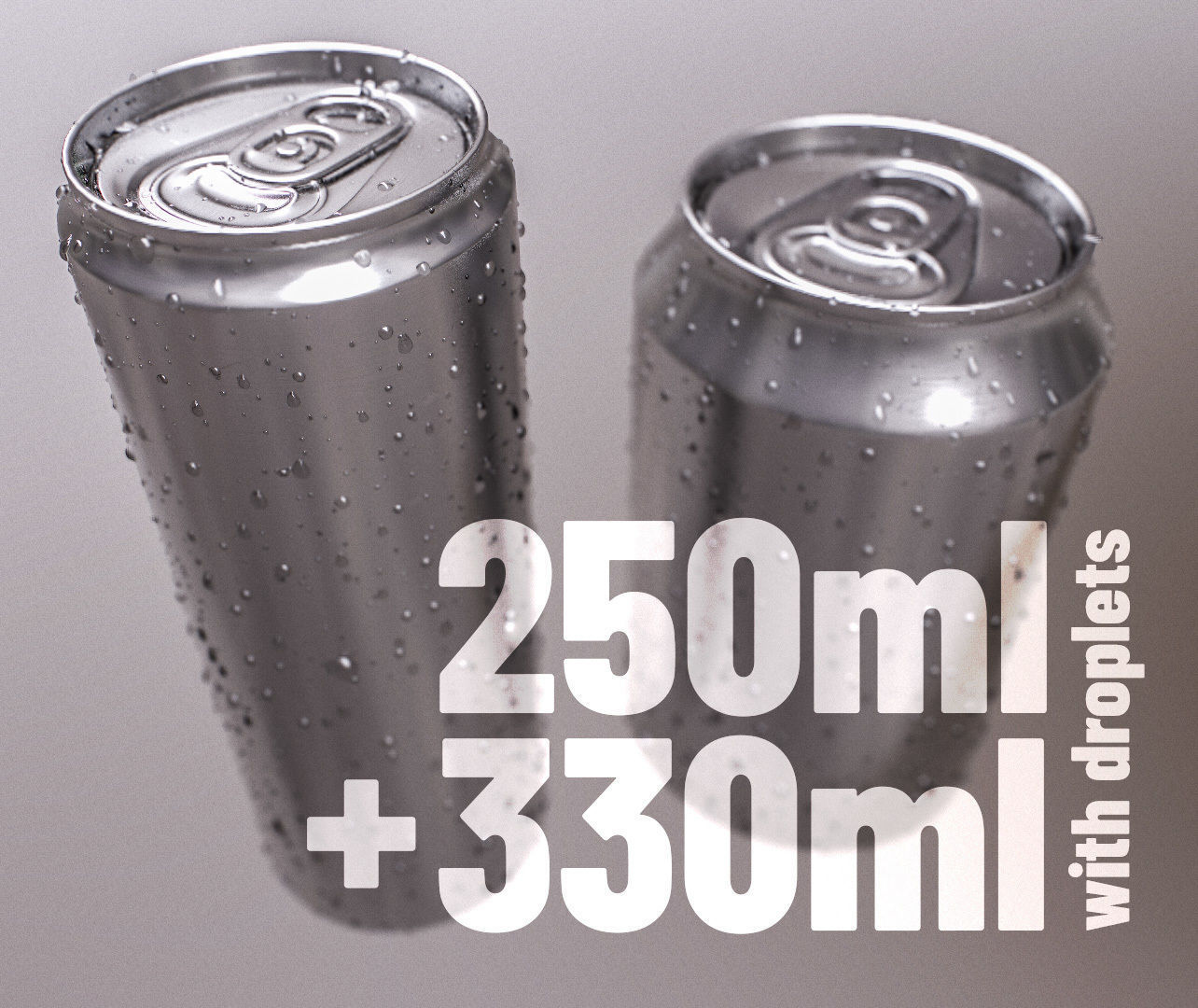 Sodacan 250ml 330ml with Droplets