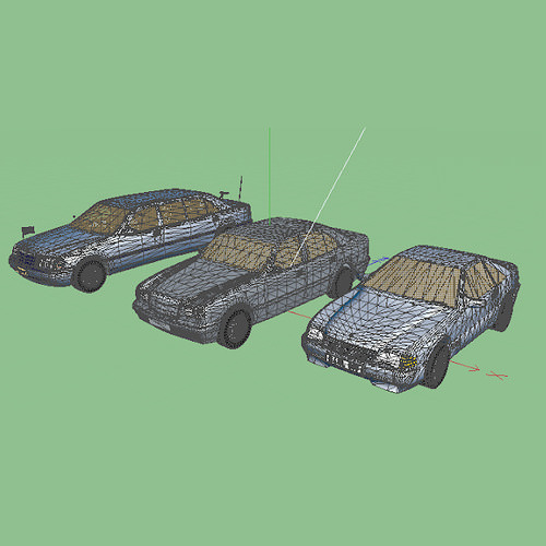 mercedes cars 3 3d model fbx 2