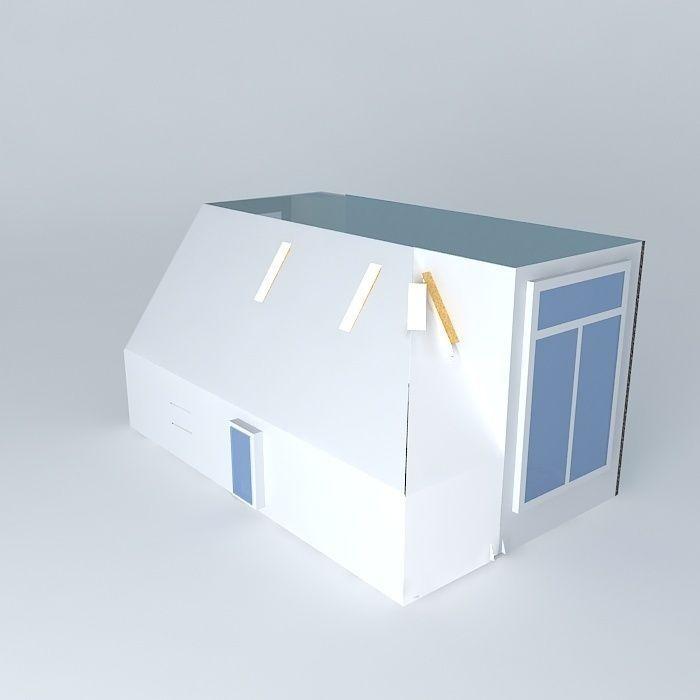 House Plan 3d Model Max Obj 3ds Fbx Stl Dae