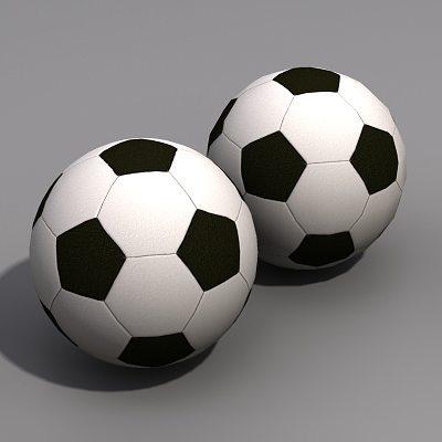 soccer ball 3d model low-poly max obj mtl 1