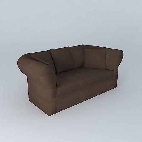 Sofa roma 3d model max obj 3ds fbx stl dae - Sofa roma ...