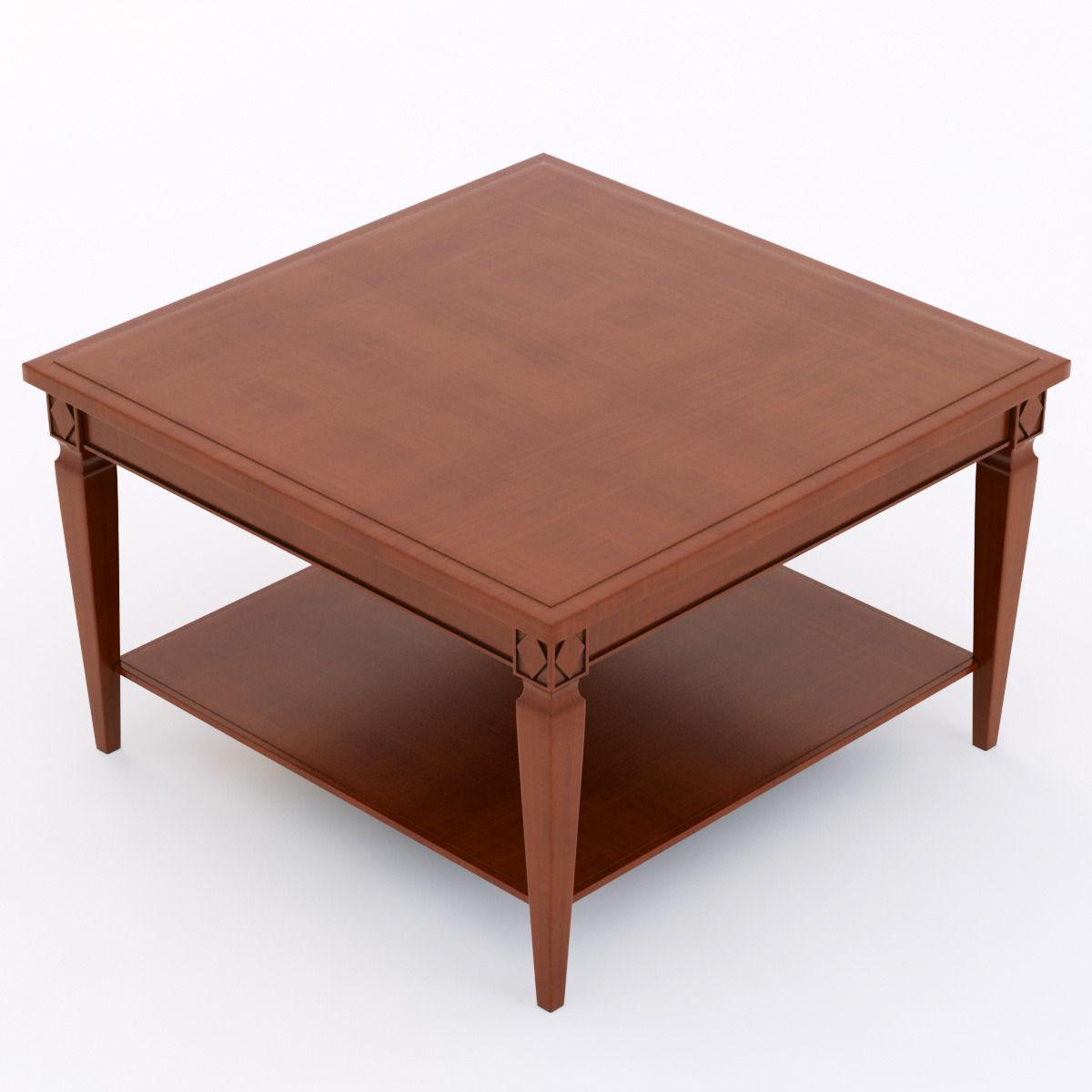 Beautiful Selva 3371 Coffee Table 3d Model Max Obj Fbx Mtl