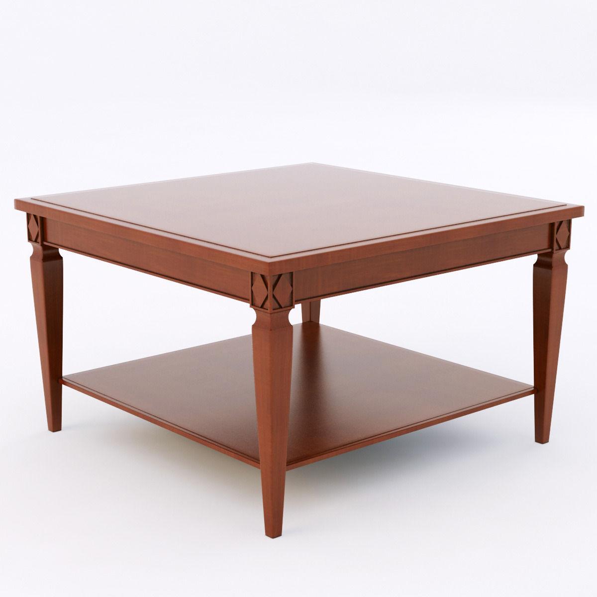 Selva 3371 Coffee Table 3d Model Max Obj Fbx
