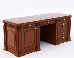 classical writing table 3D