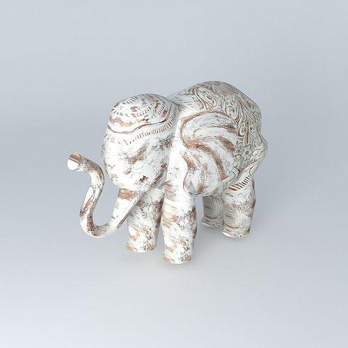 deco elephant columbo 3d cgtrader. Black Bedroom Furniture Sets. Home Design Ideas