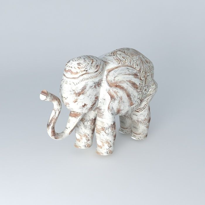 deco elephant columbo 3d model max obj 3ds fbx stl. Black Bedroom Furniture Sets. Home Design Ideas