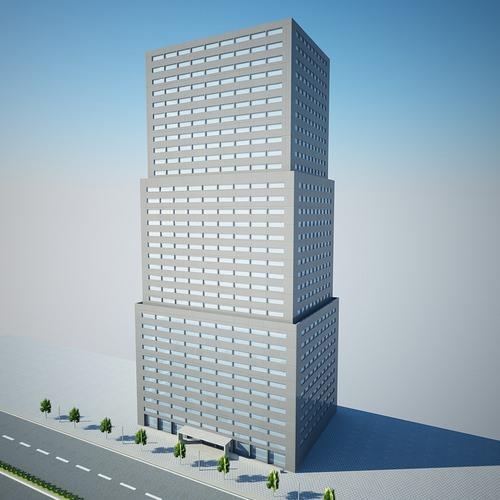 low poly building 204703D model