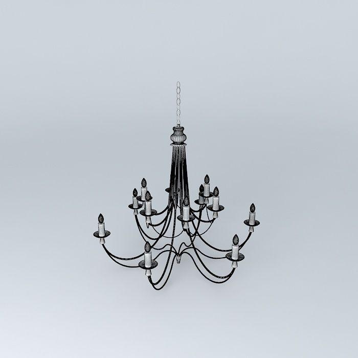Royal suspension 3d model max obj 3ds fbx stl dae for Suspension 3 branches