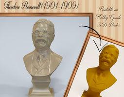 Theodore Roosevelt 3D printable model