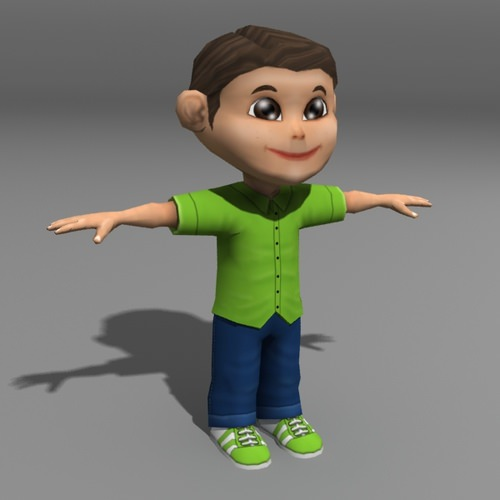 Cartoon Kid3D model