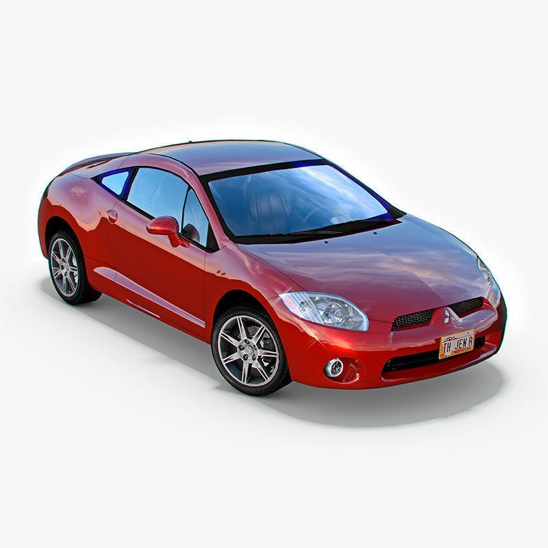 Mitsubishi Eclipse Gt: 3D Model Mitsubishi Eclipse GT 2006 VR / AR / Low-poly MAX