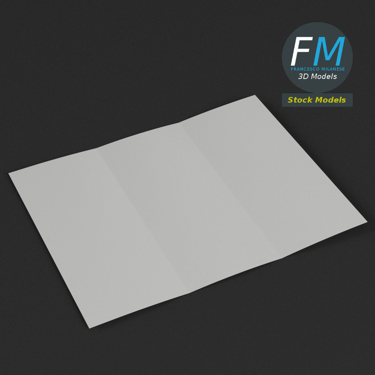 Trifold mockup open