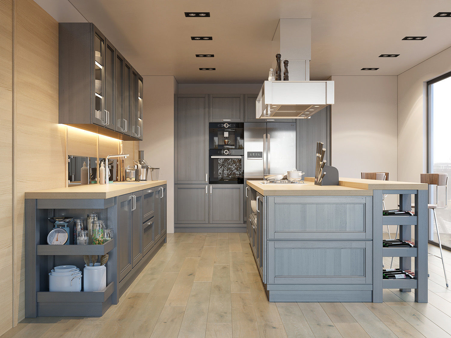 3D Kitchen Fortwood factory ZOV with decor | CGTrader on Model Kitchen Design Images  id=73439