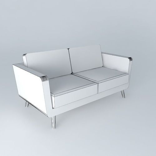 2 3 seater sofa nils grey maisons du monde 3d model max for Sofa maison du monde