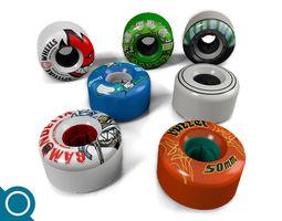 Skateboard Wheel set 3D Model