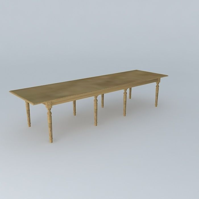 Dining table atelier maisons du monde 3d model max obj - Table maison du monde ...