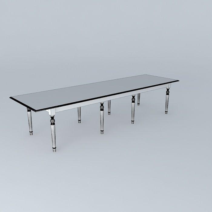 dining table atelier maisons du monde 3d model max obj 3ds fbx stl dae. Black Bedroom Furniture Sets. Home Design Ideas