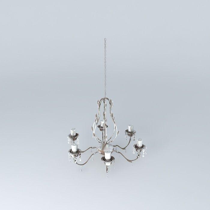 chandelier foliage maisons du monde 3d model max obj. Black Bedroom Furniture Sets. Home Design Ideas