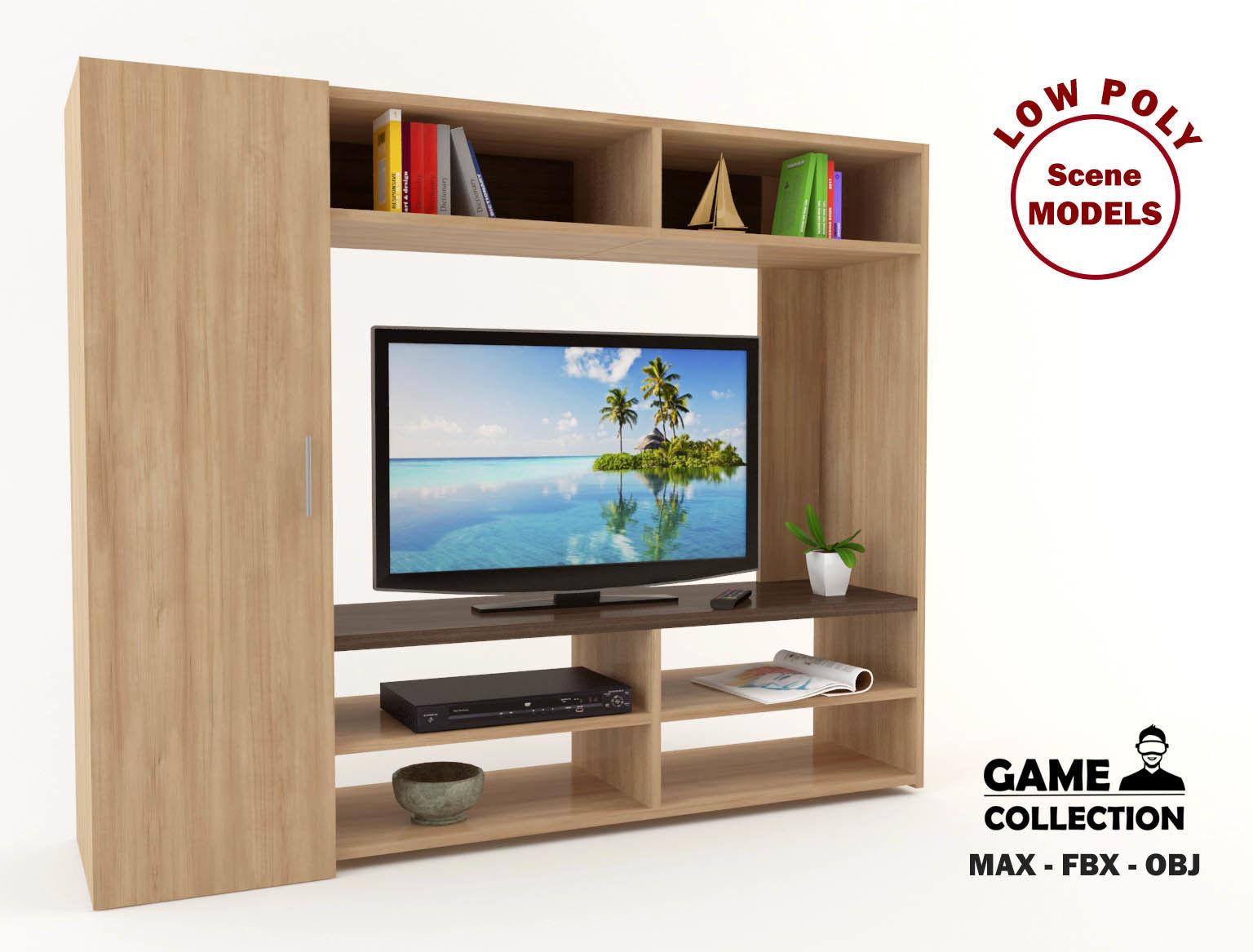 TV Unit 3   3D model