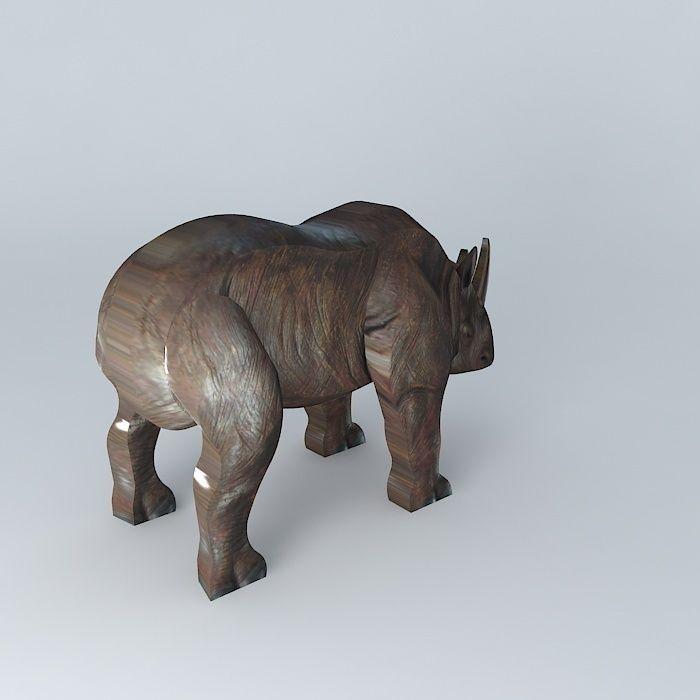 Rhino Model Houses The World 3d Model Max Obj 3ds Fbx Stl Dae 1