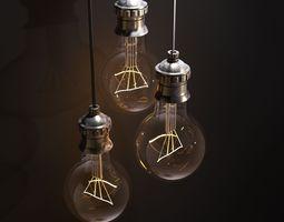 3d model vintage lamps