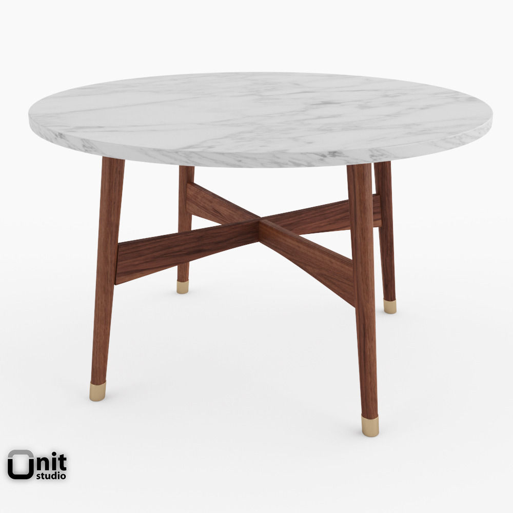3D model Reeve MidCentury Round Coffee Table by West