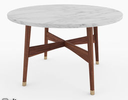 reeve mid-century round coffee table by west elm 3d model max obj fbx dwg