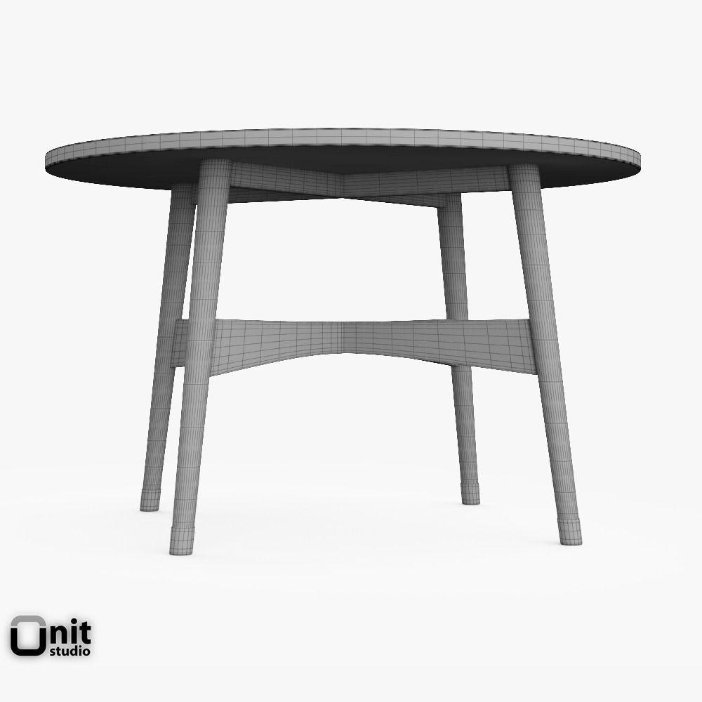Reeve Mid Century Coffee Table Marble Walnut: Reeve Mid-Century Round Coffee Table By We... 3D Model MAX