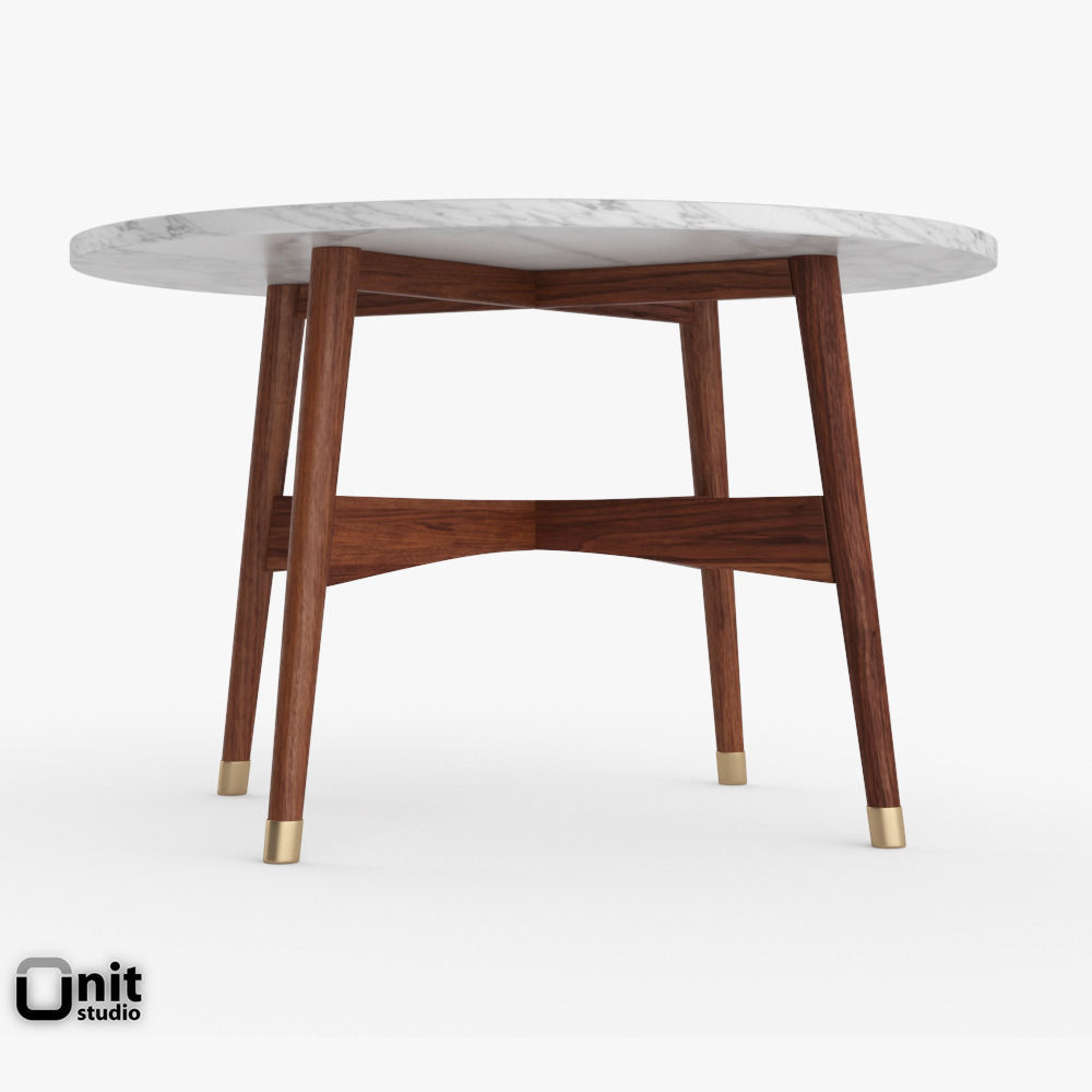 Reeve Mid-Century Round Coffee Table By We... 3D Model