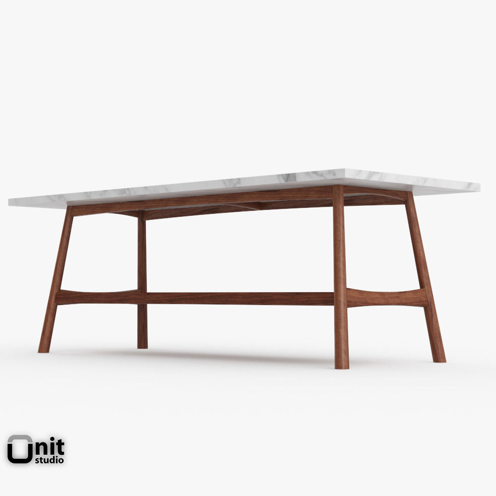 Reeve Mid-Century Rectangular Coffee Table... 3D Model