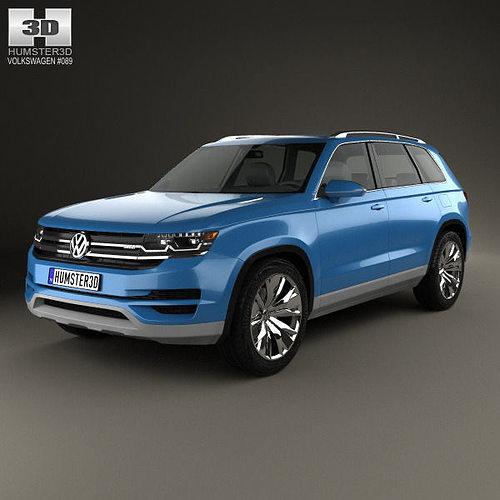 Suv Volkswagen: 3D Model Volkswagen CrossBlue 2013