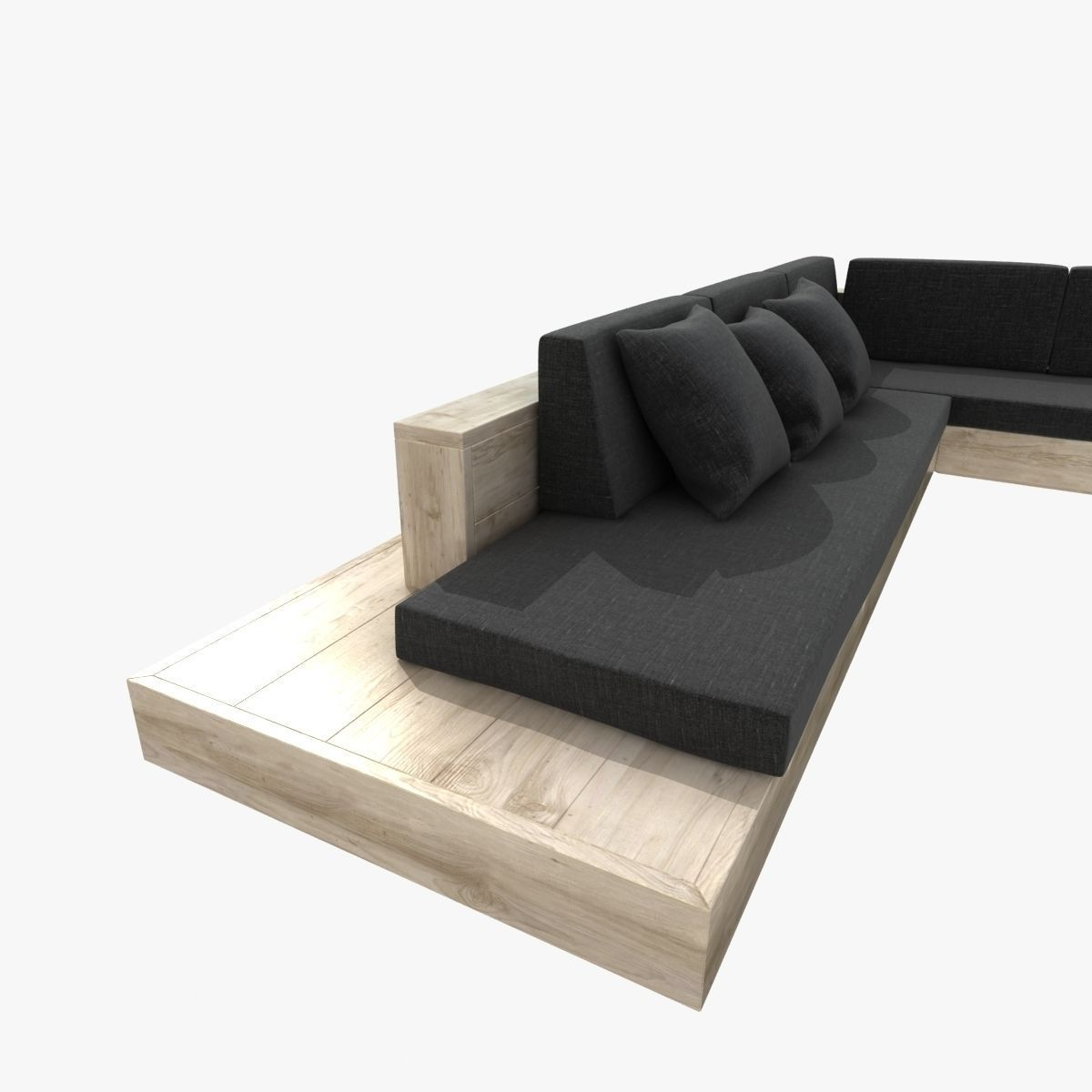 ... Outdoor Corner Sectional Sofa 3d Model Max Obj Mtl 3ds Fbx Unitypackage  Prefab 3 ...