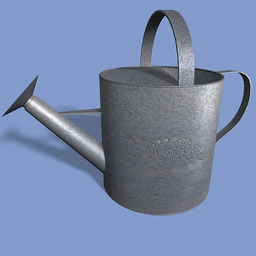 watering can 3d model obj fbx ma mb mtl 1