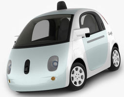 3d google self-driving car