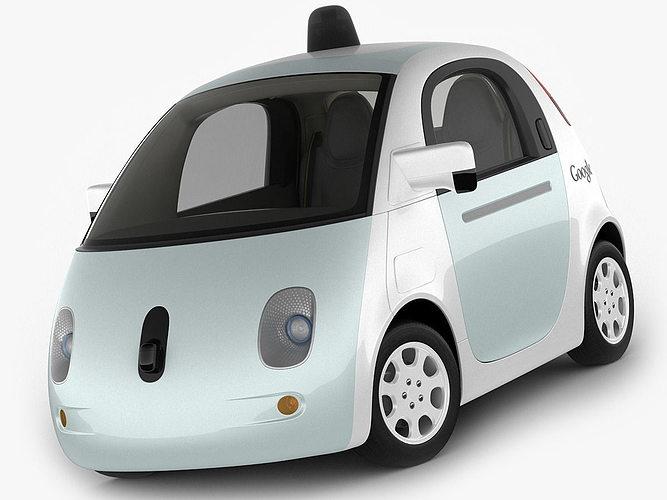 google self driving car 3d cgtrader. Black Bedroom Furniture Sets. Home Design Ideas
