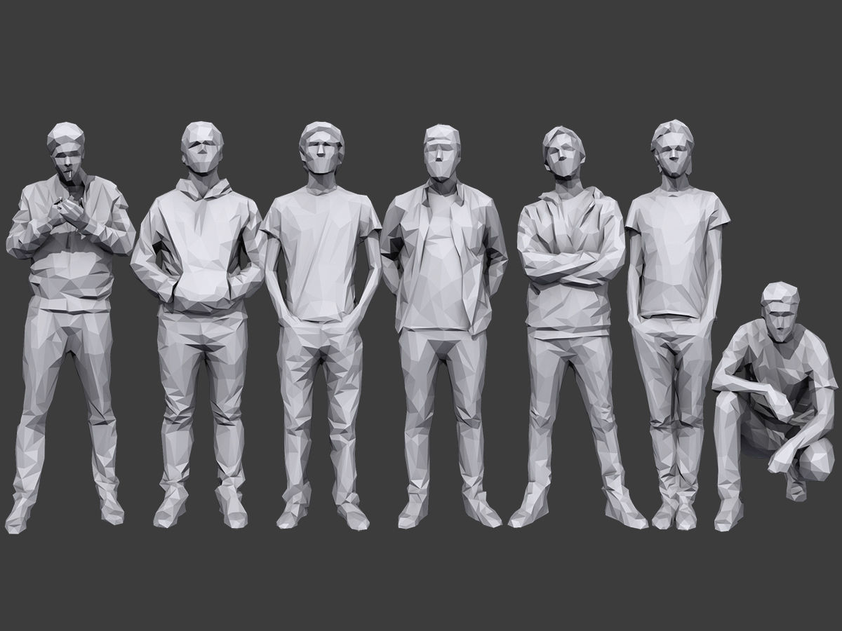 Lowpoly People Casual Pack Volume 20