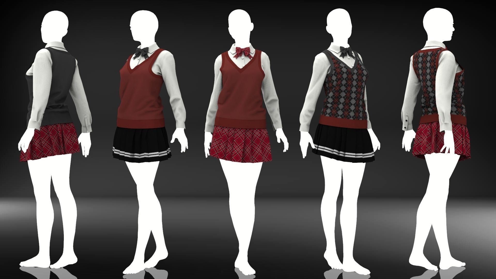 Marvelous Designer Clothes - 14 Sweater Uniform