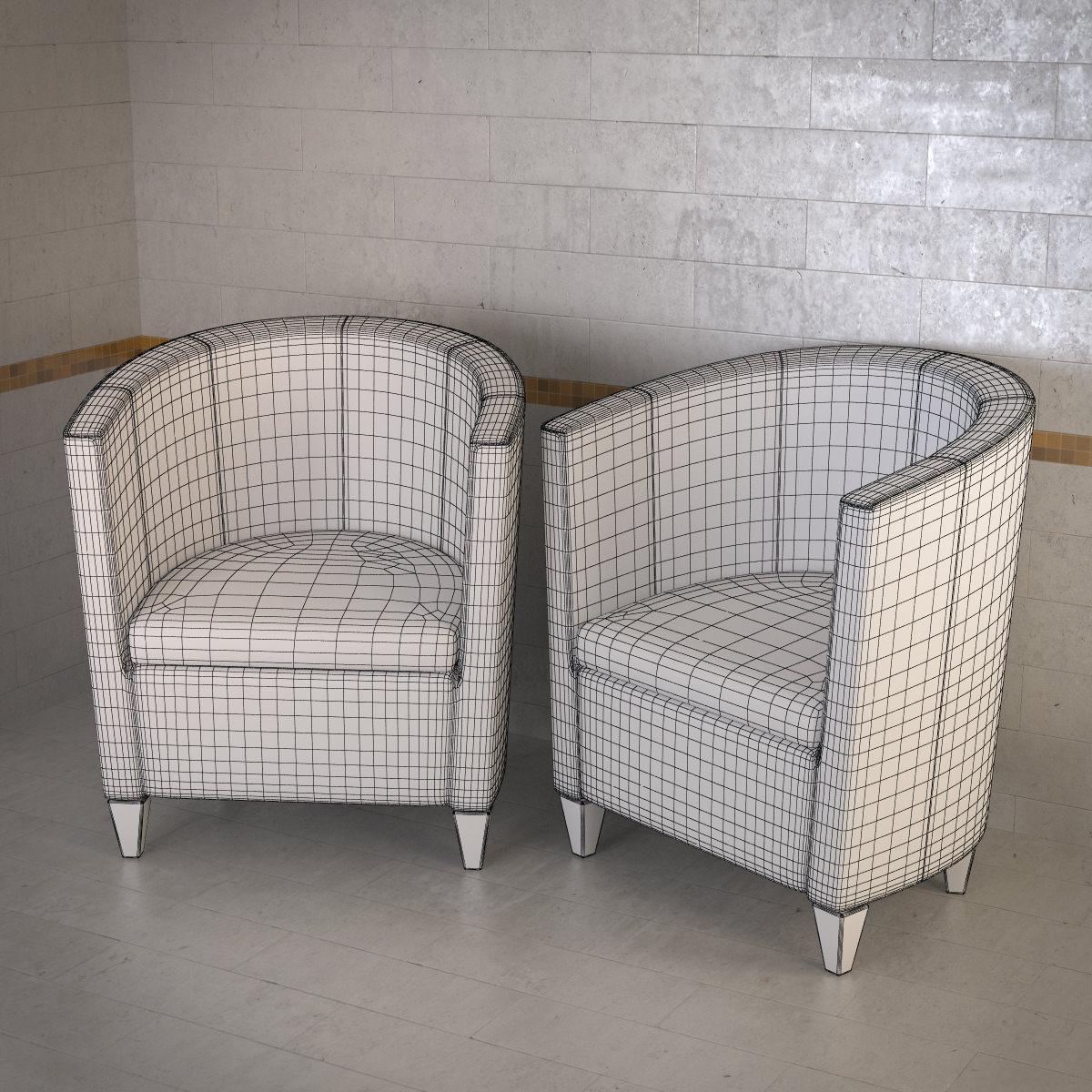 Topdeq john bronco armchair 3d model 3ds fbx dxf obj max for Topdeq design