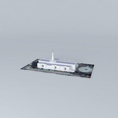 lds temple columbia south carolina templo mormon. 62nd operat... 3d model max obj 3ds fbx stl skp 1