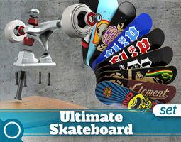 Ultimate Skateboard 3D Model