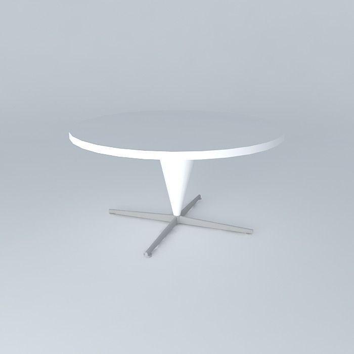 cone table verner panton 1958 free 3d model max obj. Black Bedroom Furniture Sets. Home Design Ideas