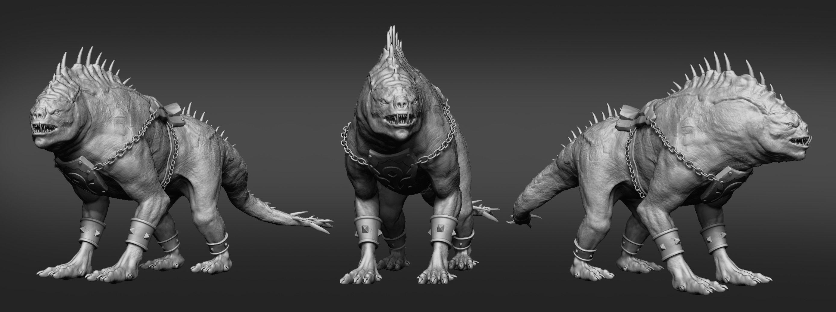 Orc Creature Sculpture Statue