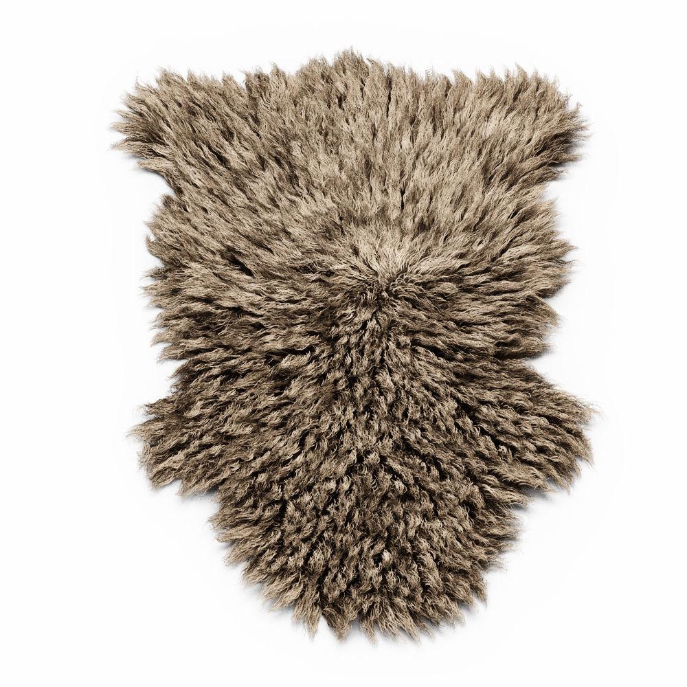 Bedside Sheepskin Rug Fur 3D Model