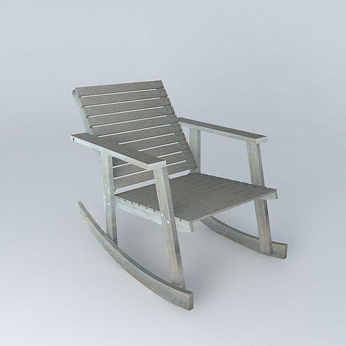 Rocking chair alabama 3d model max obj 3ds fbx stl skp - Rocking chair jardin ...
