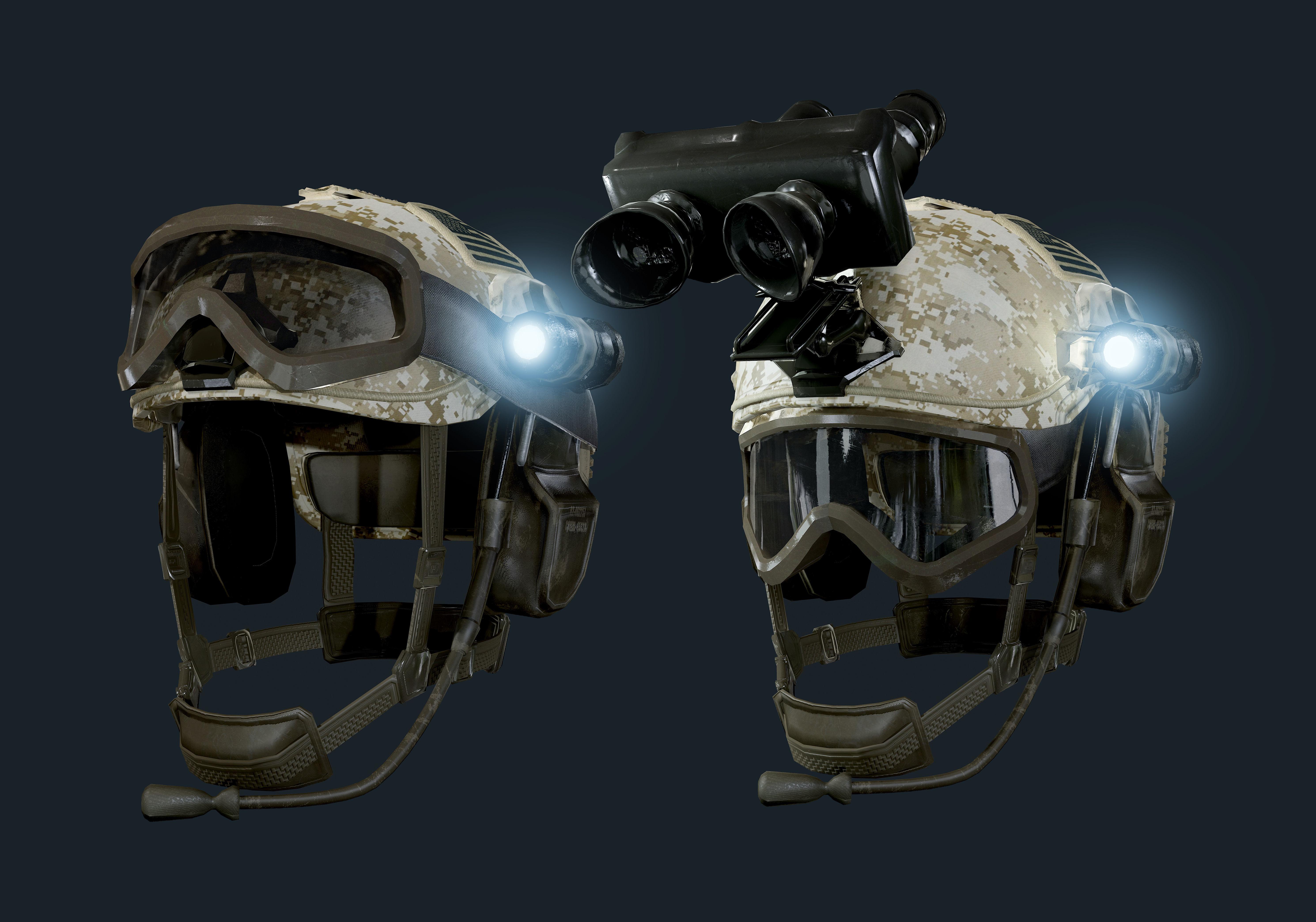 Military Helmet 02 Game Ready