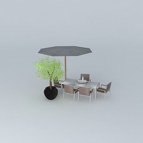 Good ... Garden Furniture Antalya 3d Model Max Obj 3ds Fbx Stl Skp 2 ...