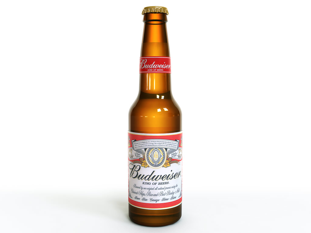 Budweiser beer bottle 3D Model .max .obj .fbx .lwo .lw ...